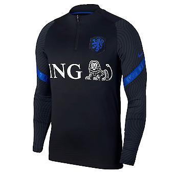 2020-2021 Holland Nike Utbildning Drill Topp (Svart)