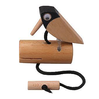 8x3x8.5cm puinen käsintehty tikka-sävylohko lastenmusikaalilelulle