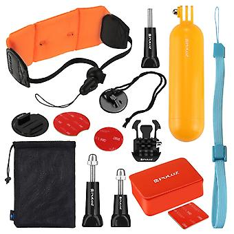 PULUZ 14 in 1 Surfing Accessories Combo Kits (Bobber Hand Grip + Floaty Sponge + Quick Release Buckle + Surf Board Mount + Floating Wrist Strap + Safe