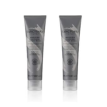 2 x Sanctuary Spa Warming Charcoal Detox Wash 100ml