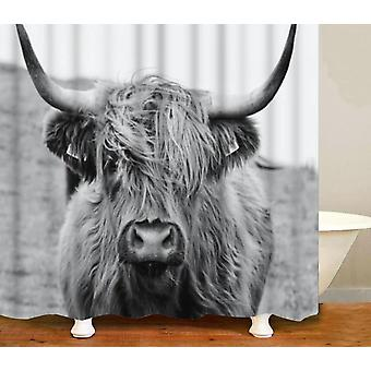 Highland Cow 3d Printed, Waterproof, Washable And Polyester Fabric Shower