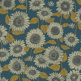 AS Creation Sunflower Yellow Blue