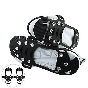 Outdoor Ice Floes Gripper, Snow Crampons Strap Climbing Cleats Spikes, Non Slip