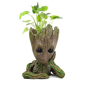 Strongwell Groot Flowerpot Planter Figurines Tree Man Cute Model Toy Garden