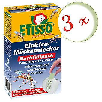 Sparset: 3 x FRUNOL DELICIA® Etisso® Electric mosquito plug refill pack, 20 plates