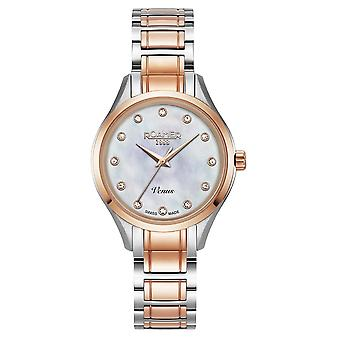 Roamer 600847 47 29 60 Two Tone Venus Mother Of Pearl Dial Wristwatch