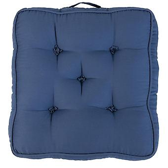 """Blue Pack of 1 Cotton Armchair Booster Cushion 4"""" Thick Seat Pad"""