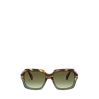 Persol PO0581S brown tortoise & opal green unisex sunglasses