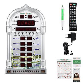 100-240V islamische azan Wanduhr Wecker Kalender Muslem Gebet ramadan Xmas Dekoration