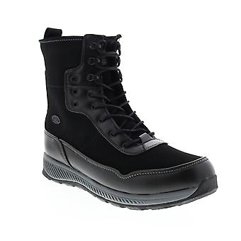 Lugz Joel  Mens Black Synthetic Lace Up Casual Dress Boots