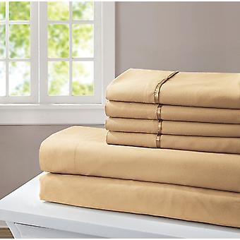 Spura Home Indian Polyester Soft Platinum Collection Bed Sheet Set King Size