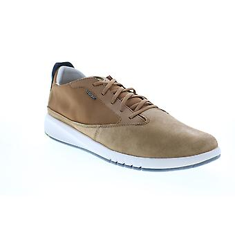 Geox U Aerantis  Mens Brown Suede Euro Sneakers Shoes