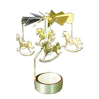 Rotating Romantic Rotation Spinning Carrousel Tea Light Candle Holder