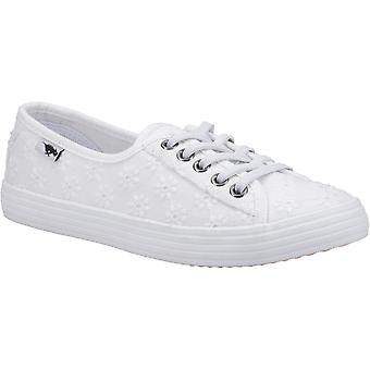 Rocket Dog Womens Chow Chow Fortune Eyelet Lace Up Trainer White