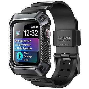 SUPCASE [Unicorn Beetle Pro] Fodral för Apple Watch 4 / Watch 5 [40mm], robust skyddsfodral med remband för Apple Watch Series 4 2018 / Series 5 2019 Edition (Svart)