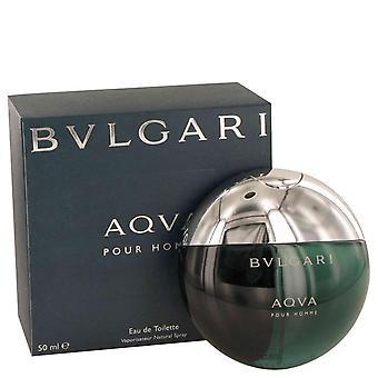Aqua pour homme eau de toilette spray door bvlgari 416380 50 ml