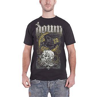 Down Mens T Shirt Black Raven Skull Swamp Death design Official