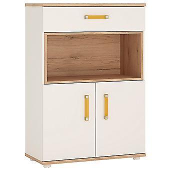 Kiddie 2 Door 1 Drawer Cupboard open shelf