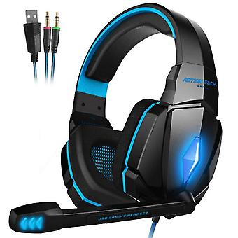 Gaming Headset Deep Bass Stereo Game Headphone With Microphone Led Light