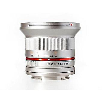 Rokinon rk12m-e-sil 12mm f2.0 ultra wide angle fixed lens for sony e-mount (n...