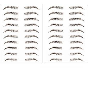 Brown Magic, 4d Hair-like Eyebrows Stickers, Tattoo Grooming Shaping, Makeup