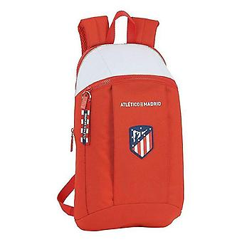 Casual backpack atlético madrid white red straps
