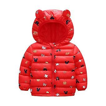 Newborn Winter Baby Hooded Jacket, Rabbit Ears Warm Toddler Coats