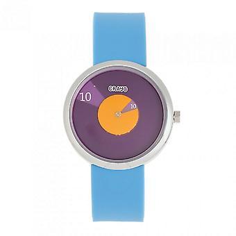 Crayo Pinwheel Quartz Purple Dial Watch CRACR5203