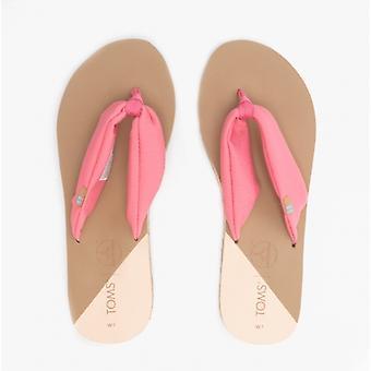 TOMS Piper Ladies Jersey Flip Flops Pink