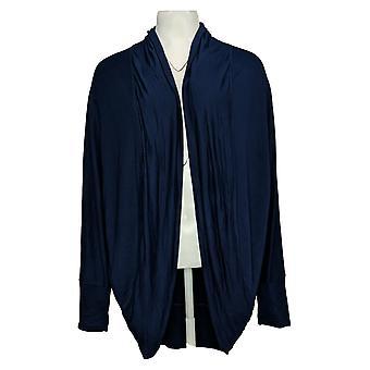 Belle by Kim Gravel Women's Sweater Cocoon Long Cardigan Blue A382349