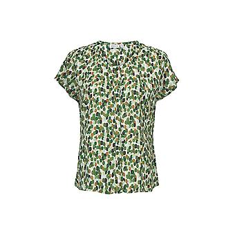 Masai Clothing Ia Green Spot Print Blouse
