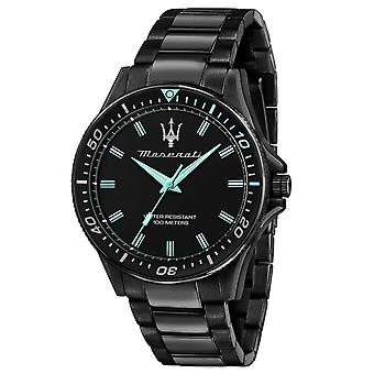 Maserati R8853144001 Homme&s Sfida - Aqua Edition Montre bracelet noir