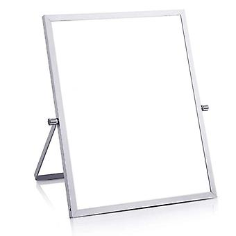 "Small Magnetic White Board For Desk 10""x10\"" Double-sided Desktop Tabletop"