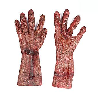 Zombie Blood Cosplay Gloves Halloween Party Funny Costume Red