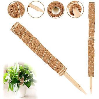 HanFei 45 cm Kokosfaser-Totempfosten, Moosstab, Pflanzenstecker fr Pflanzenverlngerung, Klettern,