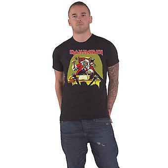 Iron Maiden T Shirt Deaf Sentence Band Logo new Official Mens Black