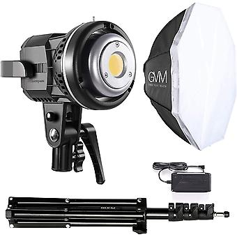 HanFei GVM LED Videoleuchte mit Softbox, LED Fotostudio Beleuchtung mit Stativ, CRI97+ 5600K