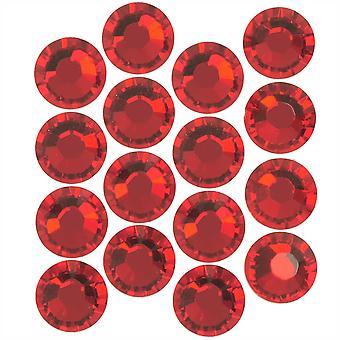 Swarovski Kristall, Rund Flatback Strass SS20 4.6mm, 50 Stück, Scharlachrot