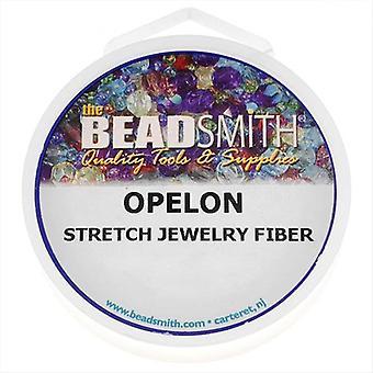 Opelon Stretch Bead Cord, 0.7mm 5 Meters, 1 Spool, White