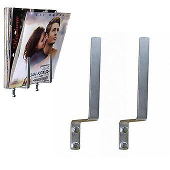 1 pari - Alumiiniset singlet jalusta, pitää säilytystelineen vinyylilevylle, lipas