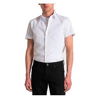 Antony Morato Short Sleeve Milano Shirt Slim Fit In White