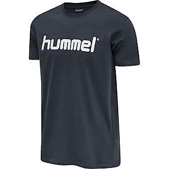 Hummel Men's T-shirt Go Cotton Logo, S/S, Men's, T-Shirt, 203513, India Ink, L