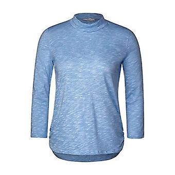 Cecil B315353 T-Shirt, Glacier Blue Melange, XL Woman