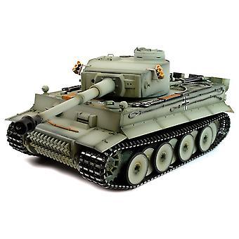 Taigen hånd malet RC Tank tidlige Version Tiger jeg grå Camo - fuld Metal Upgrade - 2,4 GHz