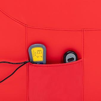 vidaXL Massagesessel mit Aufstehhilfe Rot Kunstleder