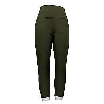 النساء مع السيطرة Leggings بيتيت القطن الأخضر A384087