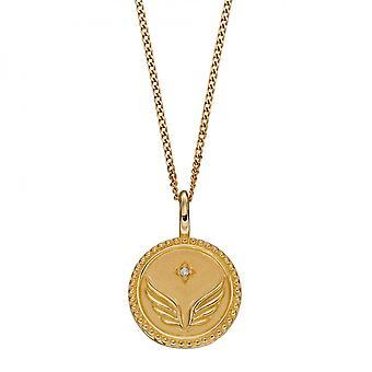 Начало Свобода Расширение Прав и возможностей Кулон Цирконий Желтое золото Покрытие P5005C