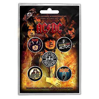 AC/DC - Balíček odznaků z dálnice do pekla