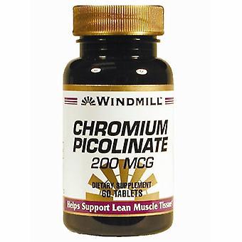 Windmill Health Chromium Picolinate, 200 mcg, 60 Tabs