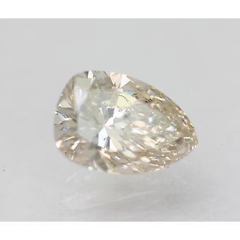 Certified 0.88 Carat J SI1 Pear Enhanced Natural Loose Diamond 7.36x5.15mm 2VG